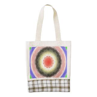 Modelo colorido del círculo bolsa tote zazzle HEART