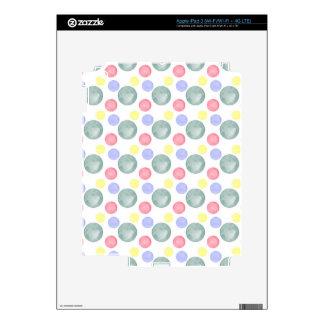 Modelo colorido del círculo de la acuarela pegatinas skins para iPad 3