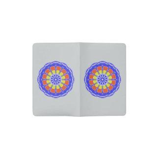 Modelo colorido del círculo del caleidoscopio funda para libreta y libreta pequeña moleskine