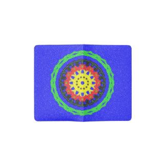 Modelo colorido del círculo en fondo azul funda para libreta y libreta pequeña moleskine
