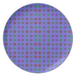 modelo colorido del círculo en púrpura platos de comidas