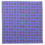 modelo colorido del círculo en púrpura servilletas