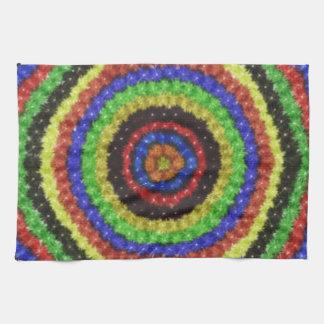 Modelo colorido del círculo toalla de mano
