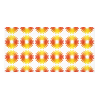 Modelo colorido del engranaje de la rueda tarjetas fotograficas