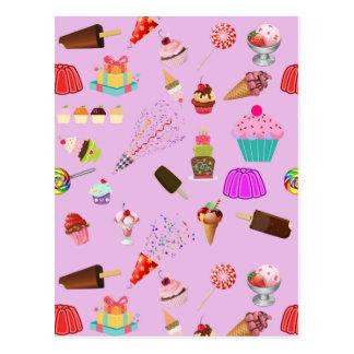 Modelo colorido del fiesta del caramelo postal