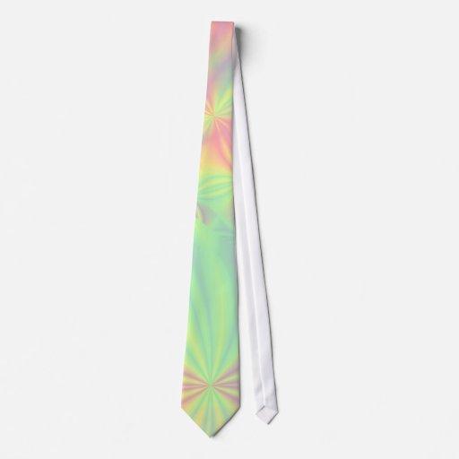 Modelo colorido del fractal corbatas personalizadas