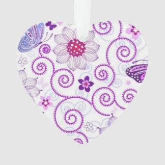 Modelo colorido del fractal de la flor del rosa de