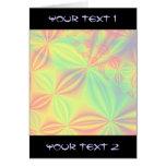 Modelo colorido del fractal tarjeta de felicitación