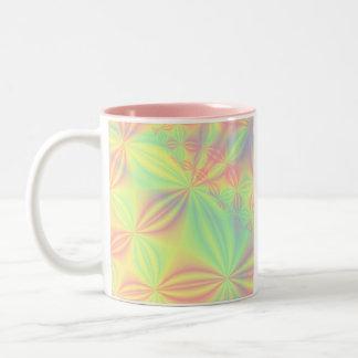 Modelo colorido del fractal taza de dos tonos