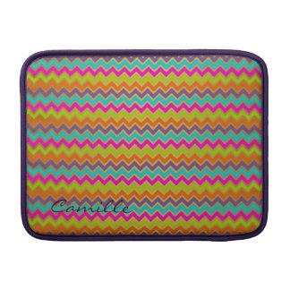 modelo colorido del galón personalizado con nombre fundas para macbook air