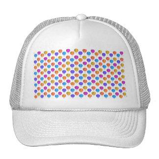 Modelo colorido del globo del aire caliente gorros bordados