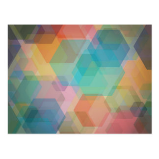 Modelo colorido del hexágono postal