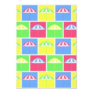 """Modelo colorido del parasol invitación 5"""" x 7"""""""