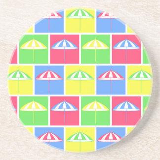 Modelo colorido del parasol posavasos diseño