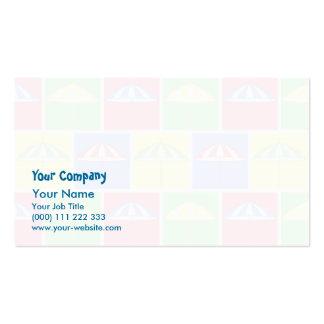 Modelo colorido del parasol tarjetas de visita