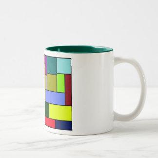 Modelo colorido del rectángulo de la taza de café