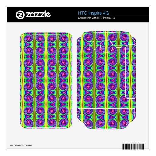 Modelo colorido del remolino HTC inspire 4G calcomanías