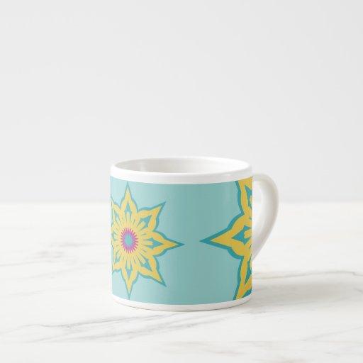 modelo colorido del resplandor solar taza espresso