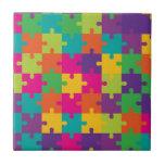 Modelo colorido del rompecabezas azulejo