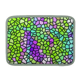 Modelo colorido del vitral funda para macbook air