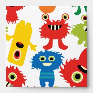 Modelo colorido divertido lindo de los monstruos sobre