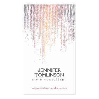 Modelo colorido elegante de la lluvia del confeti tarjetas de visita