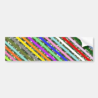 Modelo colorido elegante del camuflaje de la raya pegatina de parachoque