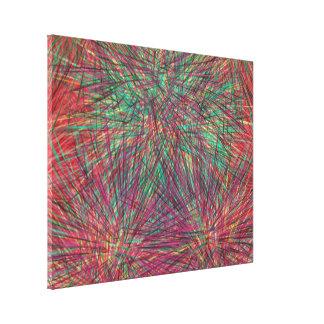 Modelo colorido extraño impresión en tela