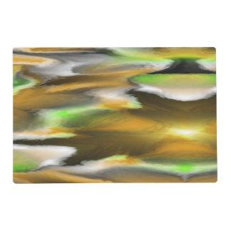 Modelo colorido extraño tapete individual