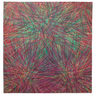 Modelo colorido extraño servilleta de papel