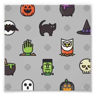 Modelo colorido fantasmagórico de Halloween Cojinete