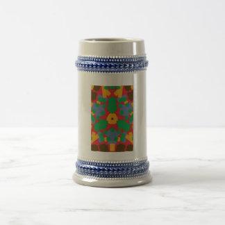 Modelo colorido feo jarra de cerveza
