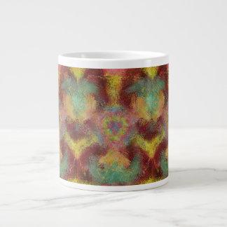 modelo colorido feo taza grande