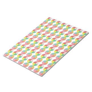 Modelo colorido geométrico bloc de papel