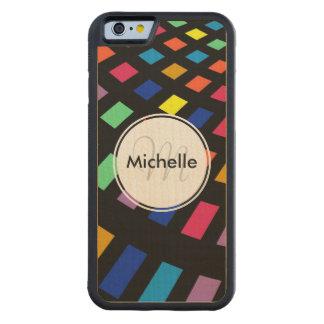 Modelo colorido geométrico moderno del rectángulo funda de iPhone 6 bumper arce