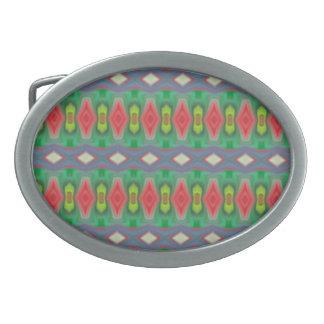 Modelo colorido horizontal de moda hebillas cinturon ovales