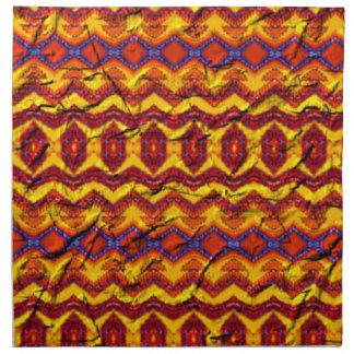 Modelo colorido impresionante servilletas imprimidas