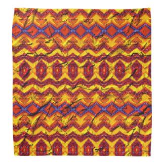 Modelo colorido impresionante bandanas