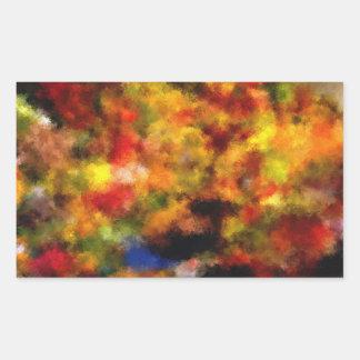 modelo colorido intrigante pegatina rectangular