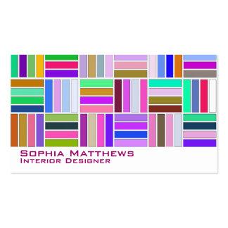 Modelo colorido lindo 17 plantilla de tarjeta personal