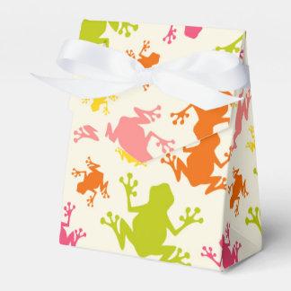 Modelo colorido lindo de las ranas paquetes de regalo