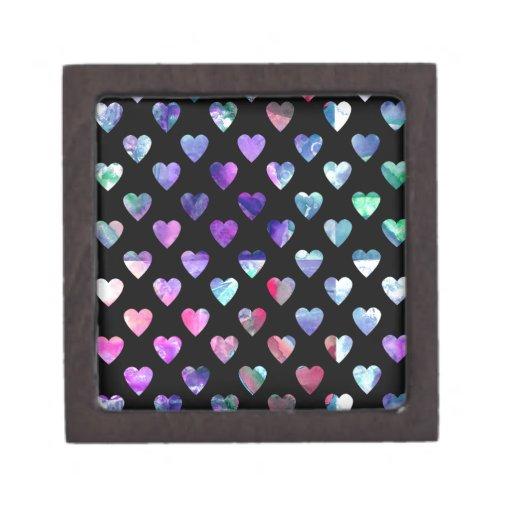 Modelo colorido lindo del amor del corazón de la a caja de recuerdo de calidad