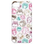 Modelo colorido lindo del búho en rosa y azul iPhone 5 Case-Mate cárcasas