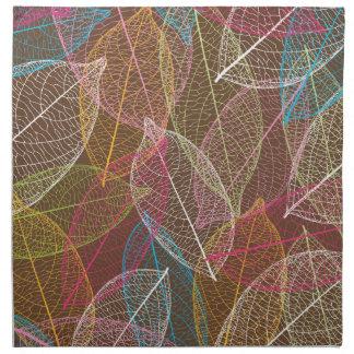 Modelo colorido lindo del nervio de la hoja servilleta de papel