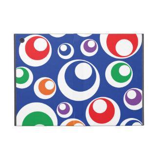 Modelo colorido loco del azul de las bolas del cír iPad mini cárcasas
