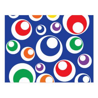 Modelo colorido loco del azul de las bolas del postales