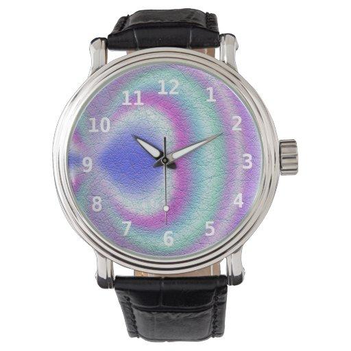 Modelo colorido moderno abstracto relojes de pulsera