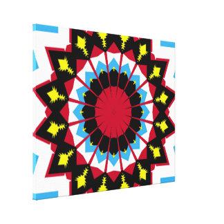 Modelo colorido moderno impresiones en lona estiradas