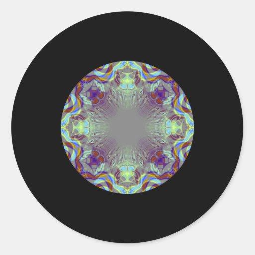 Modelo colorido pegatina redonda