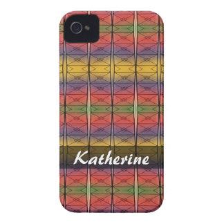 Modelo colorido personalizado del arco iris Case-Mate iPhone 4 funda